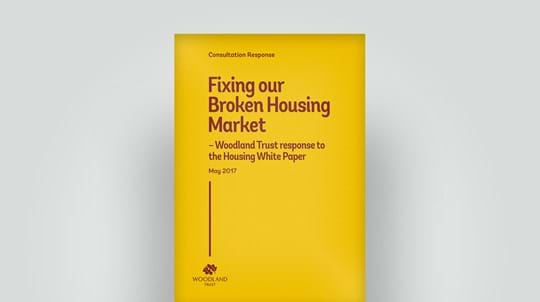Woodland Trust response to Government housing White Paper, May 2017