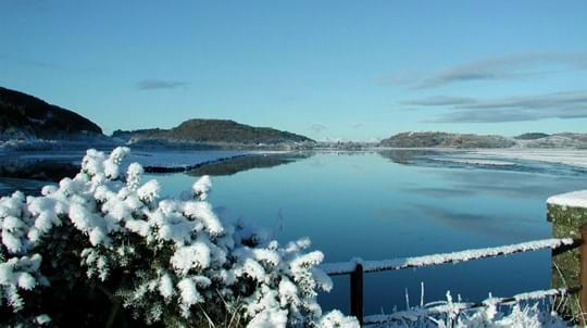 Lake in winter, Crinan Wood