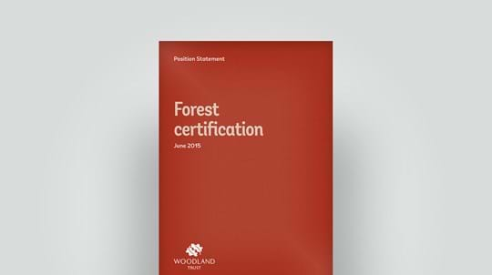 Forest certification position statement, June 2015