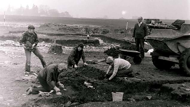 Archaeological dig at Archers Wood 2nd September 1979
