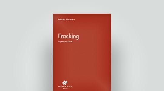 Fracking position statement, September 2015