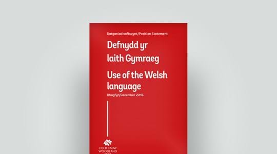 Use of Welsh language position statement, 2016
