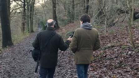 Adam Shaw And Joe Coles Walking In Leeds Woodland
