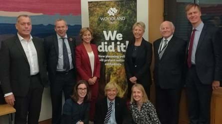 MPs and Woodland Trust staff pose for photo