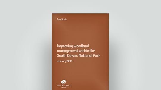 2016 case study of woodland management within South Downs National Park