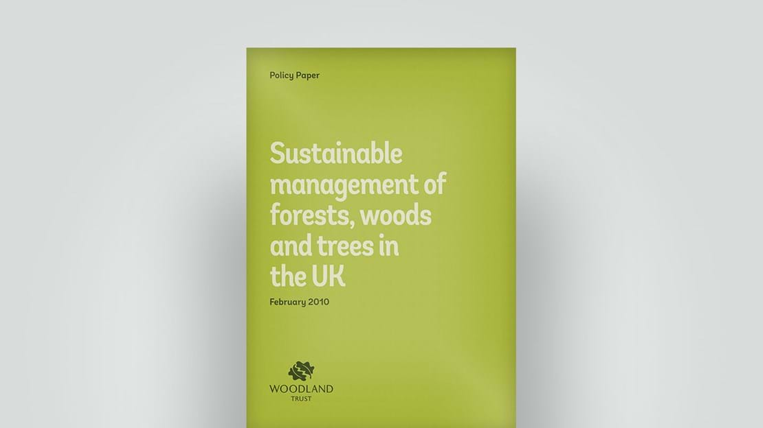 Sustainable forest management policy paper, February 2010