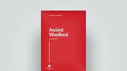 Ancient woodland position statement front cover, April 2017