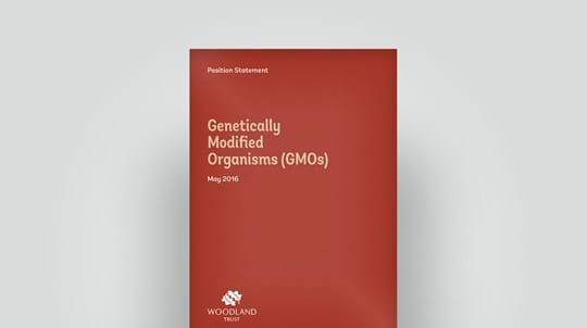 Position statement on genetically modified organisms, May 2016