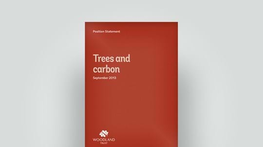 Trees and carbon position statement, September 2013