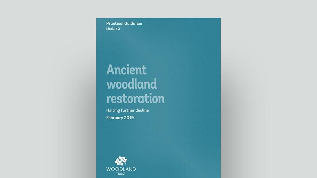 Ancient woodland restoration module 3 cover February 2019