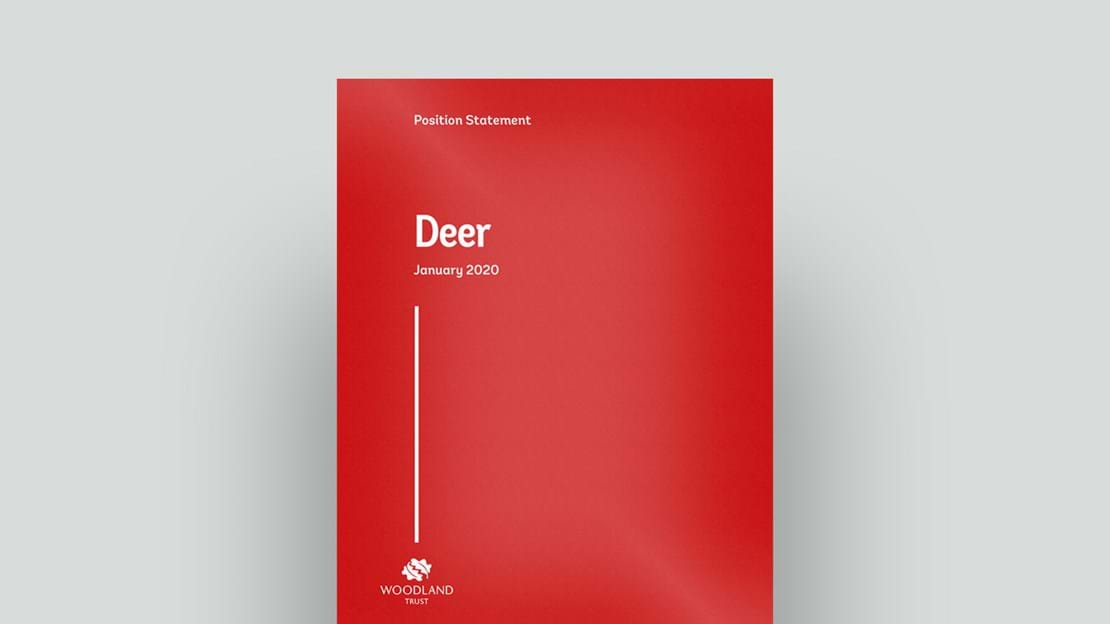 Deer management position statement cover
