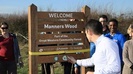 Nationwide chief executive opening new wood.