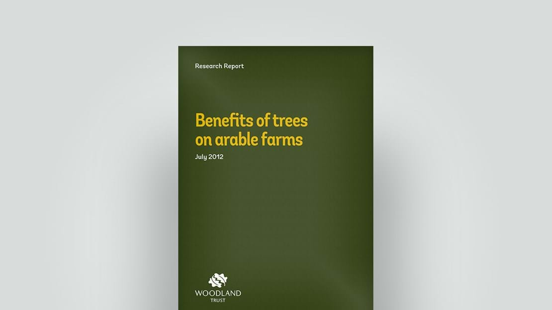 Benefits of trees on arable farms, July 2012 research report