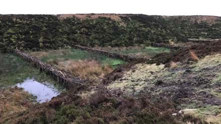 Four evenly spread leaky dams across land at Smithills