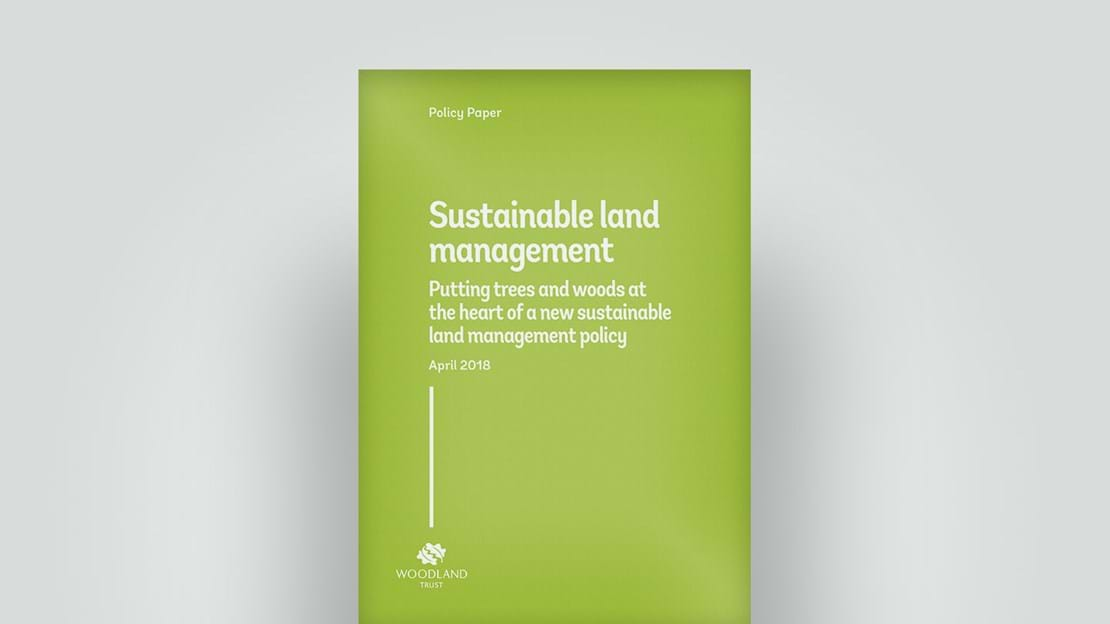 Sustainable land management policy cover, April 2018