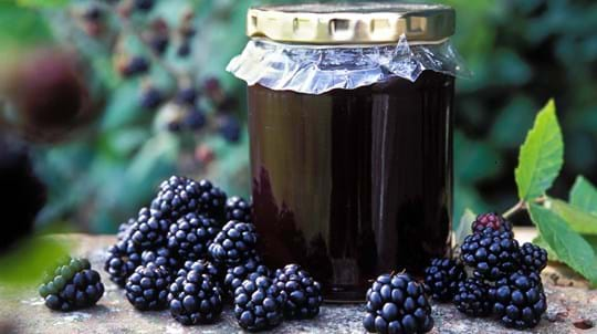 Jar of bramble jelly
