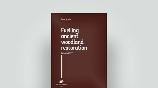 Woodfuel from ancient woodland restoration case study, 2017