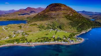 Aerial view of Ben Shieldaig mountain