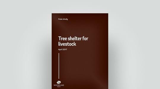 Tree shelter for livestock 2017 case study front cover, April 2017