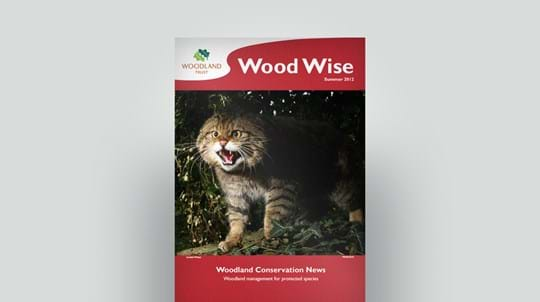 Cover of Wood Wise Summer 2012 - protected species