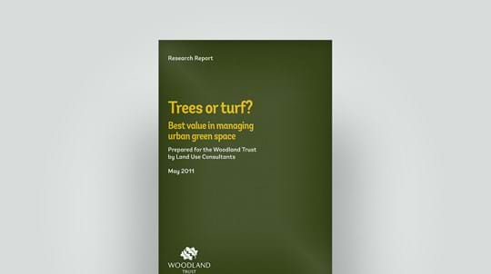 Trees or turf for urban green space, May 2011 research report