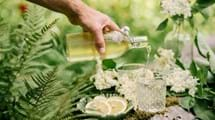 Elderflower Cordial Being Poured