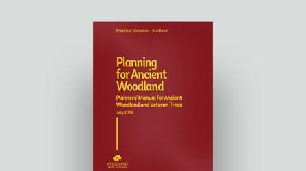 Planners' manual for ancient woodland and veteran trees in Scotland cover